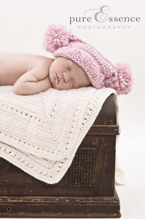 Knit Baby Blanket Pattern - Avery Blanket Pattern - Instant Digital ...