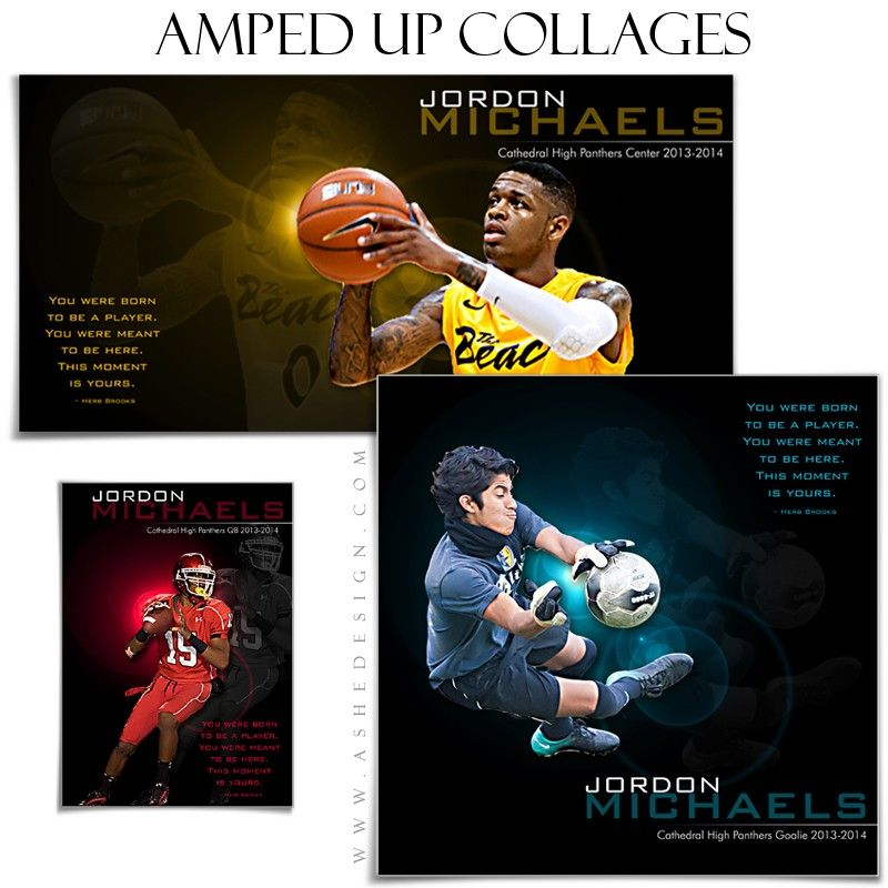 sports collage templates this moment is yours montages