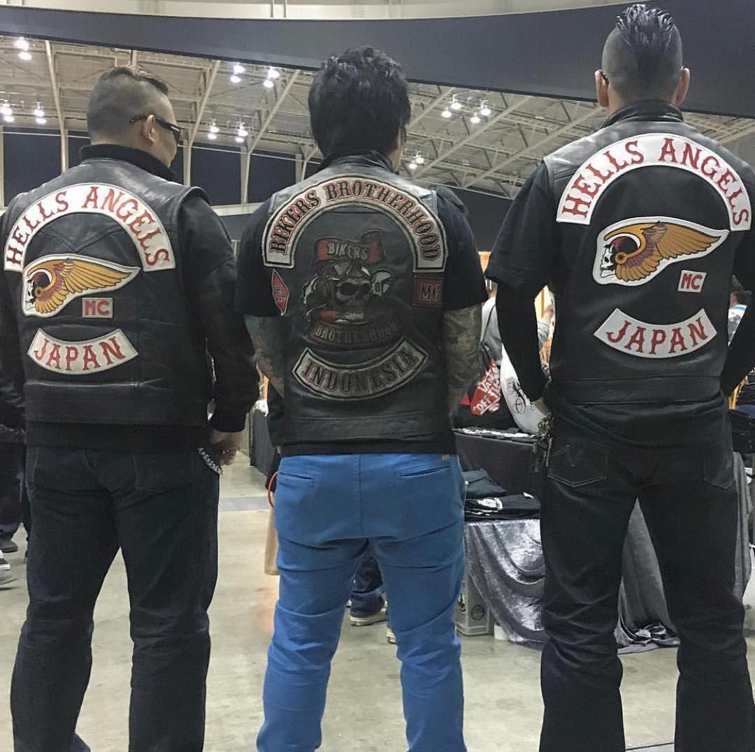Hells Angels Japan stand alongside Bikers Brotherhood