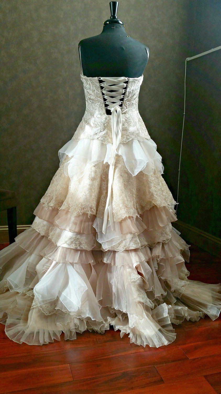 Steampunk Wedding Dress, Victorian Wedding Dress, Celtic