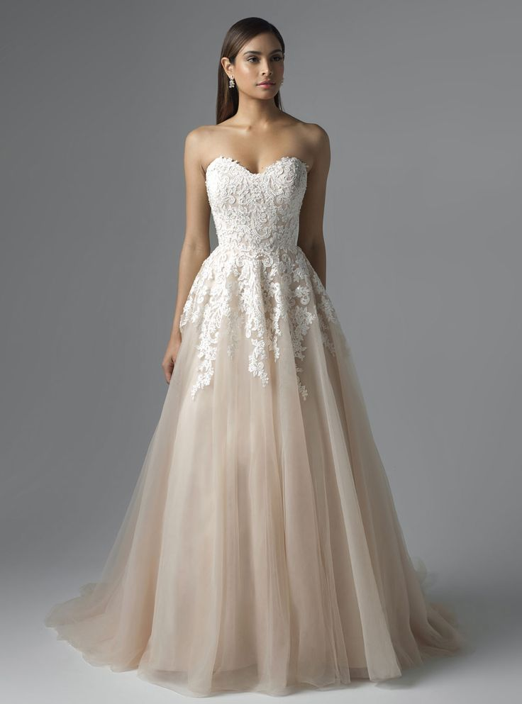 Wedding dress lace m1650l carris mia solano strapless princess wedding dress lace m1650l carris mia solano strapless princess lace junglespirit Gallery