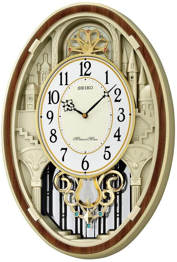 Seiko Melodies In Motion Wall Clock Qxm369brh Cream Wall Clocks Clock Pendulum Wall Clock