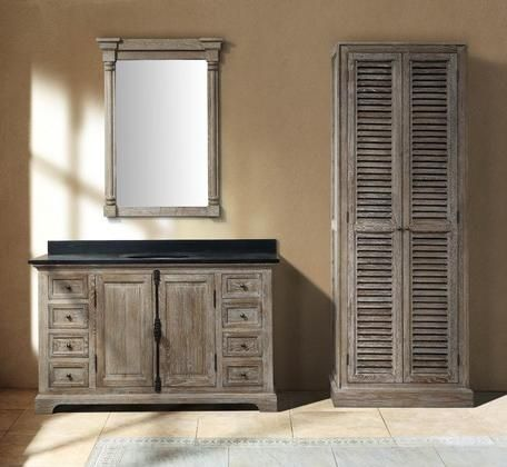 Bathroom Vanity And Linen Cabinet genna grey single bathroom vanity with linen cabinet and mirror