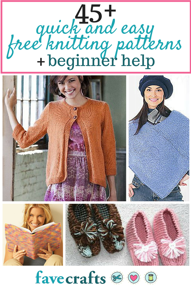 45 Quick and Easy Free Knitting Patterns and Beginner Help | Knitted ...