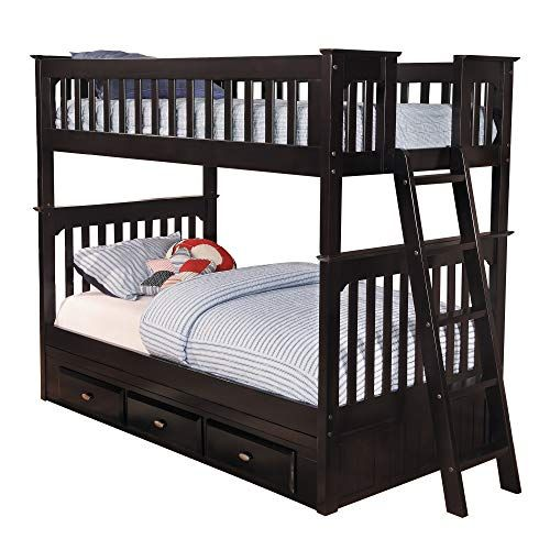Discovery World Furniture Twin Over Twin Bunk With 3 Drawers