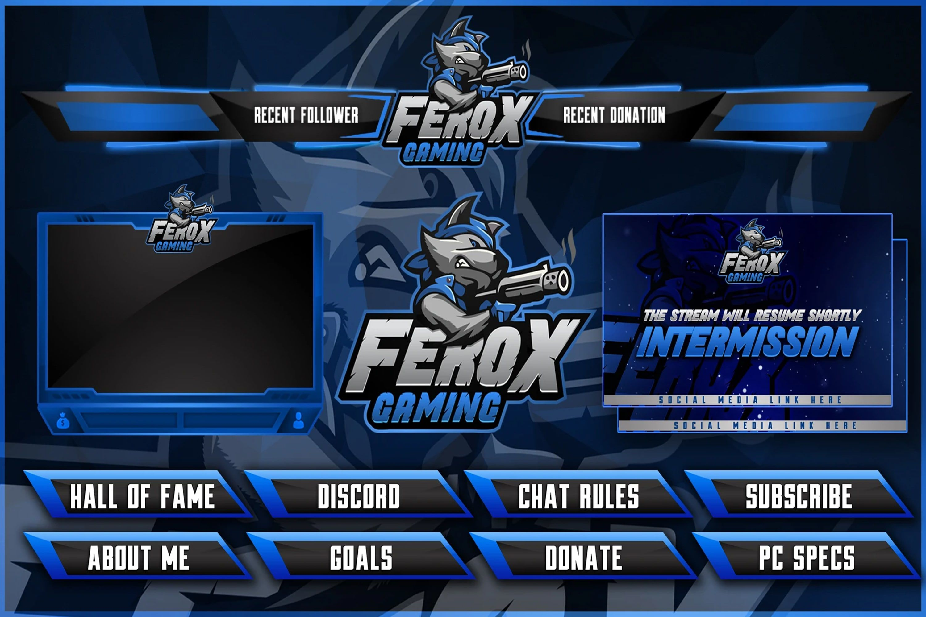 design profession twitch overlay template and stream pack ...