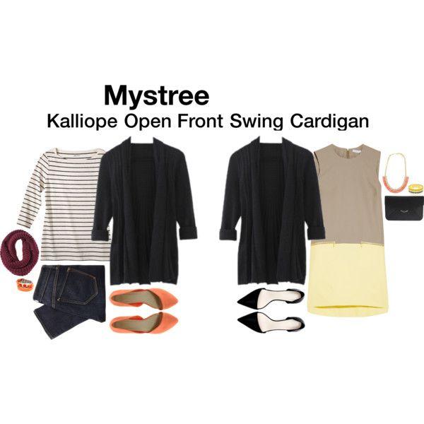 Kalliope Open Front Swing Cardigan