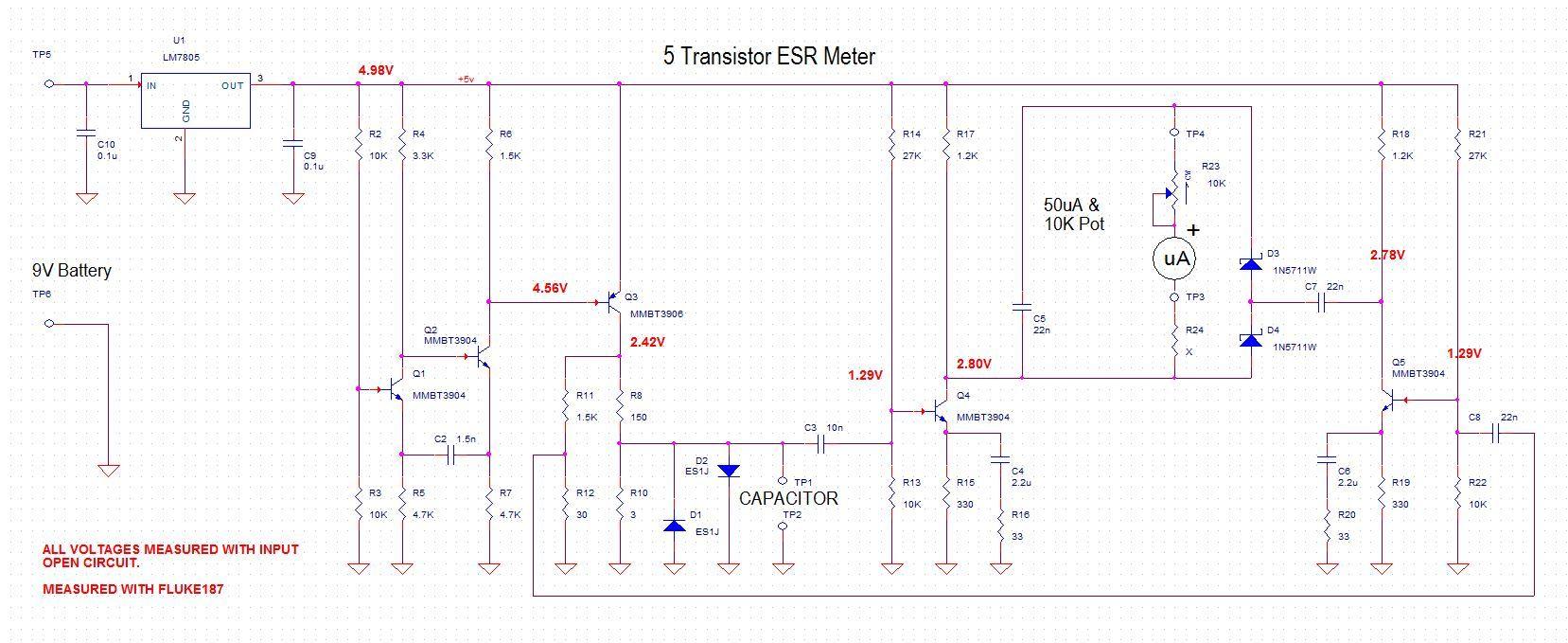 5 Transistor Esr Meter Design Page Detectors Gt Various Circuits Power Loss Detector L11996 Nextgr Circuit Jay
