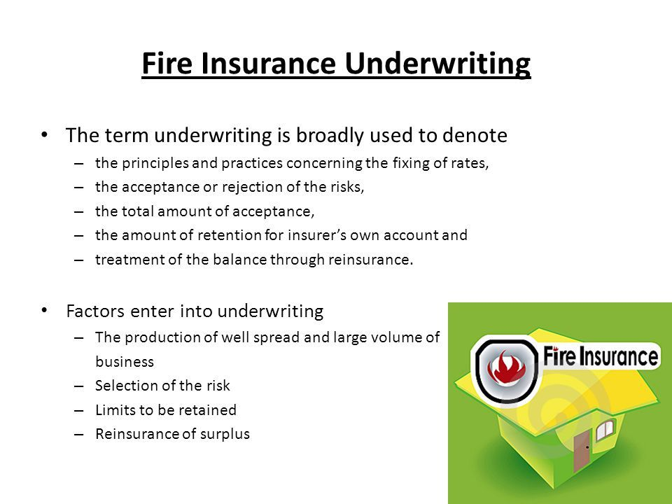 Image Result For Fire Insurance Presentation Underwriting
