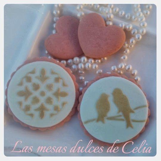 Las mesas dulces de Celia: Galletas de fresa