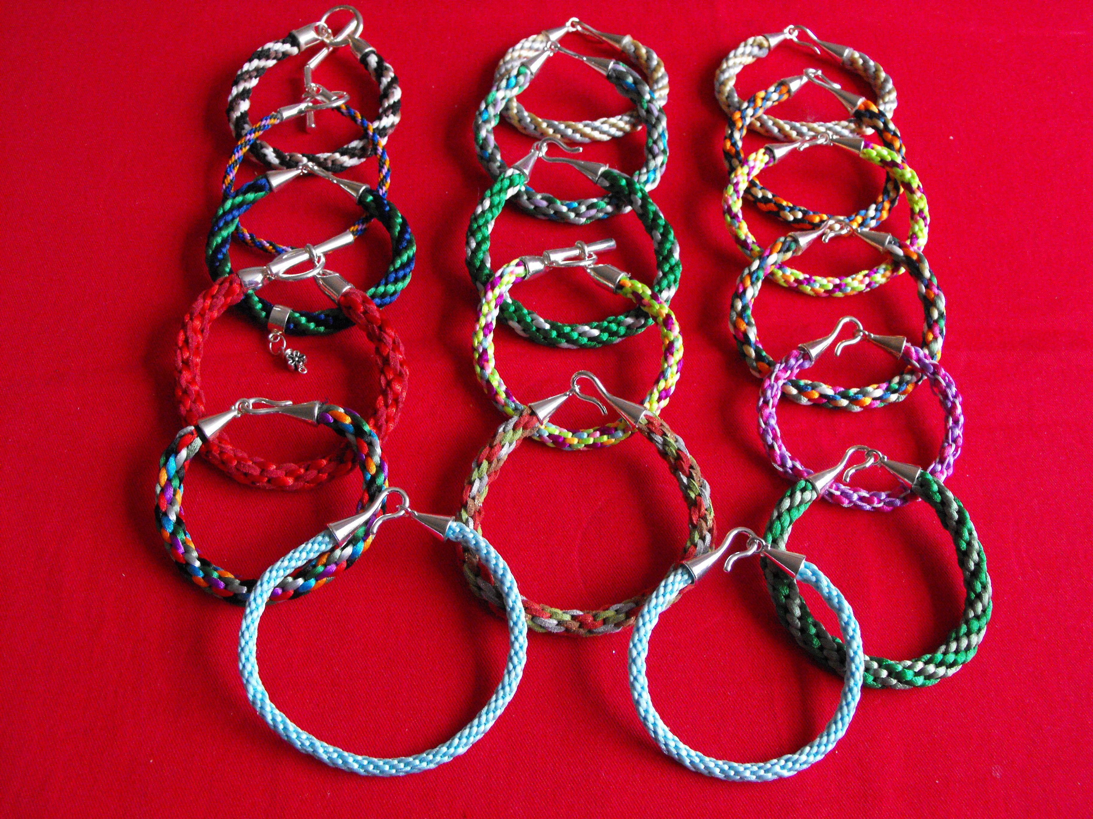 Kumihimo bracelets made by me.....£6.....:):):)