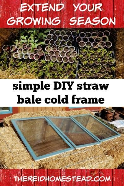 How to Build a Straw Bale Cold Frame | Cold frame, Diy ...