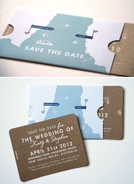 cute idea for invitations - easily adaptable for any travel-themed, Wedding invitations