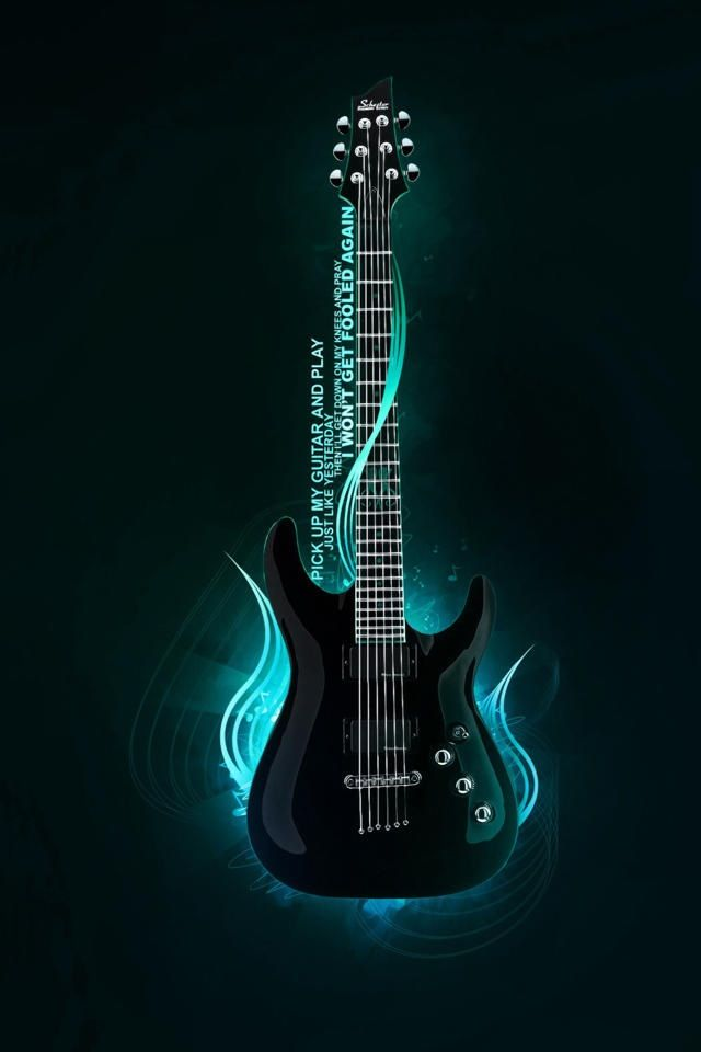 guitar Simply Beautiful iPhone Wallpapers