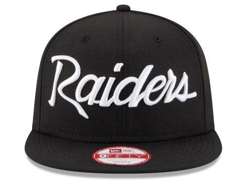 best loved 0dfc8 211ce Oakland Raiders New Era NFL LIDS 20th Anniversary Script 9FIFTY Snapback  Cap Hats