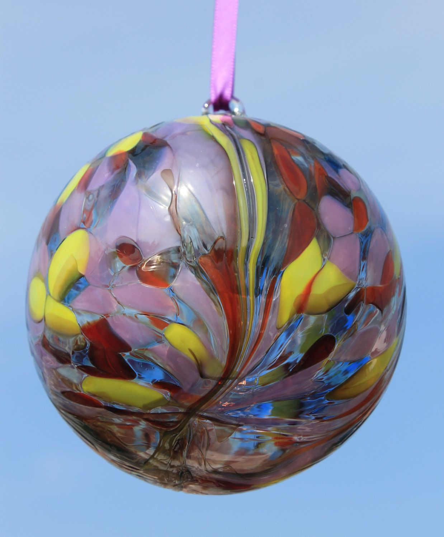 Friendship ball ornament - Handblown Glass Friendship Kugel Witches Ball 10m Twilight By Glenariffgifts On