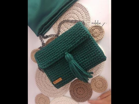 DIY Penye Ip ile Çanta Yapımı / Bag with Tshirt Yarn ( Part1) handmade - YouTube #bags