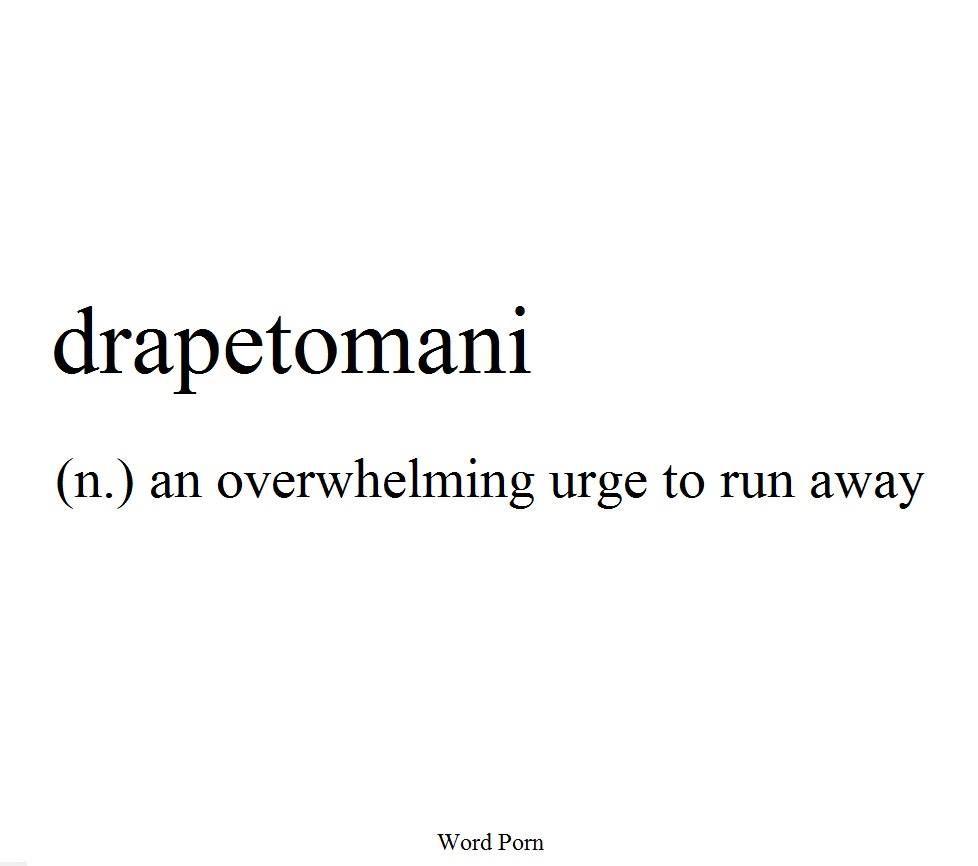 Drapetomani An Overwhelming Urge To Run Away F