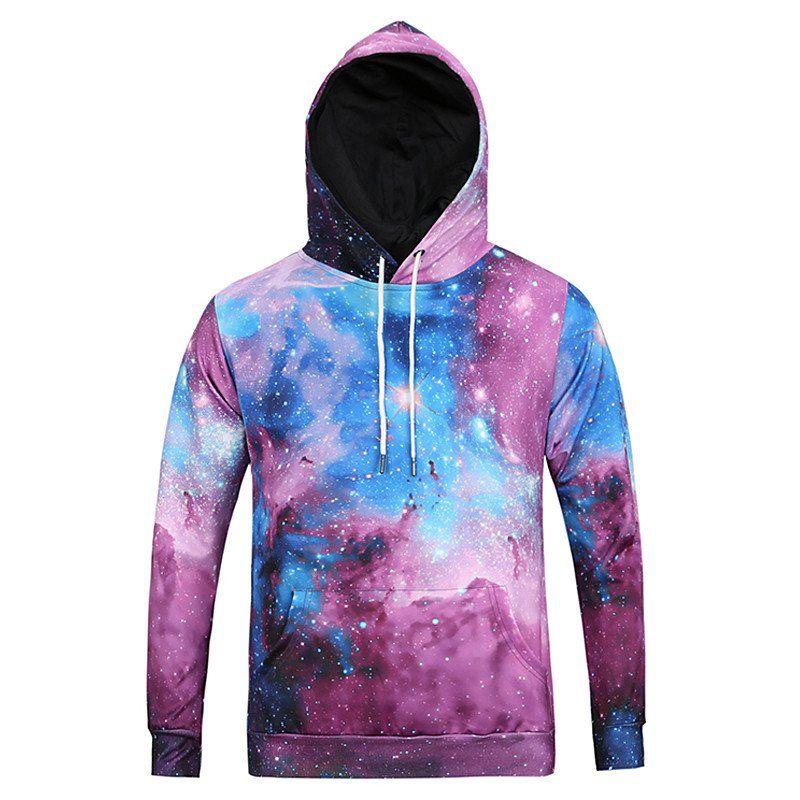 Color Star Printing Hooded Sweatshirt-L6023