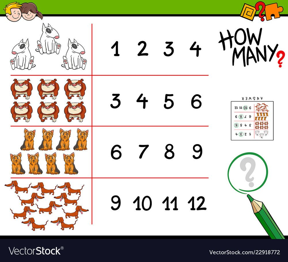 Cartoon Illustration Of Educational How Many Counting Activity For Children With Dogs Animal Characters Down Counting Activities Preschool Worksheets Counting [ 911 x 1000 Pixel ]