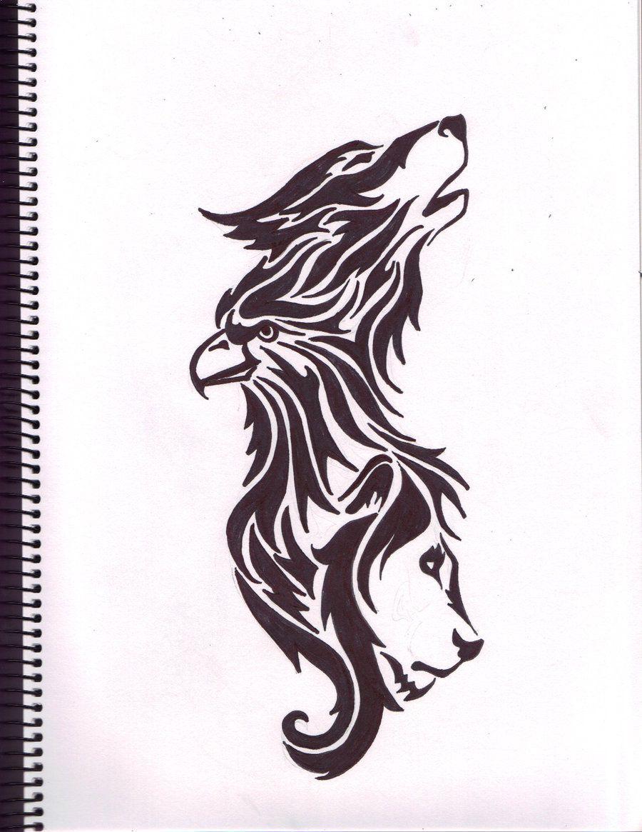 wolf eagle lion tattoo by moehawk37 on deviantart nice tattoo pinterest tattoo tattoo. Black Bedroom Furniture Sets. Home Design Ideas