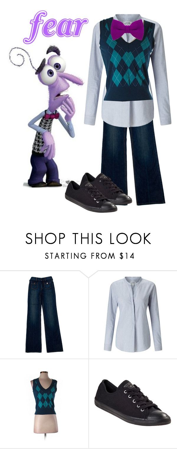 """""""Fear"""" by kianaroha ❤ liked on Polyvore featuring Disney, STELLA McCARTNEY, Hartford, Express and Converse"""