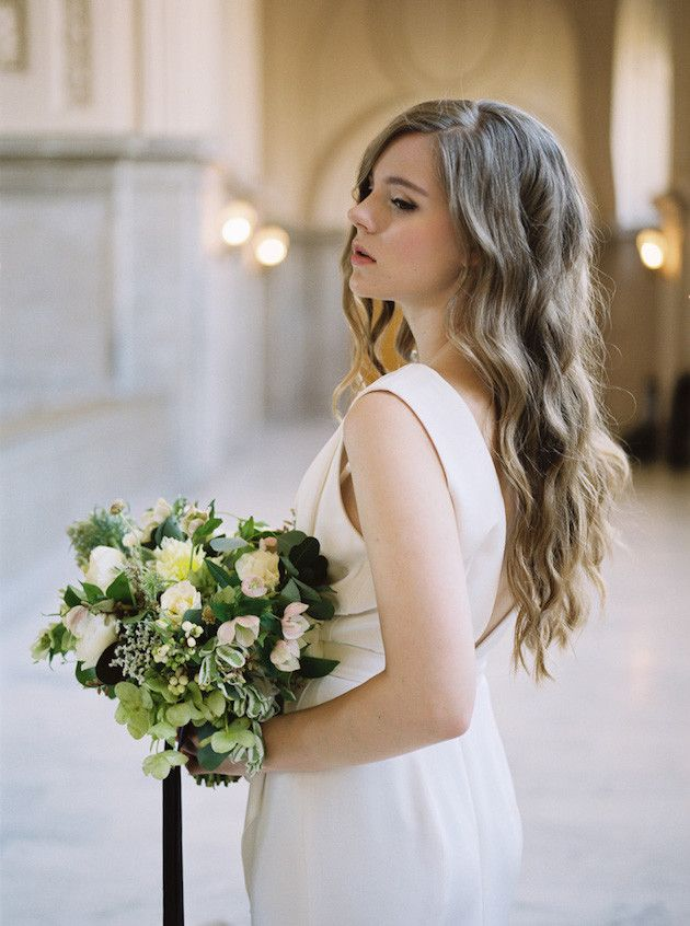 Dreamy Civil Wedding Inspiration In San Francisco City Hall