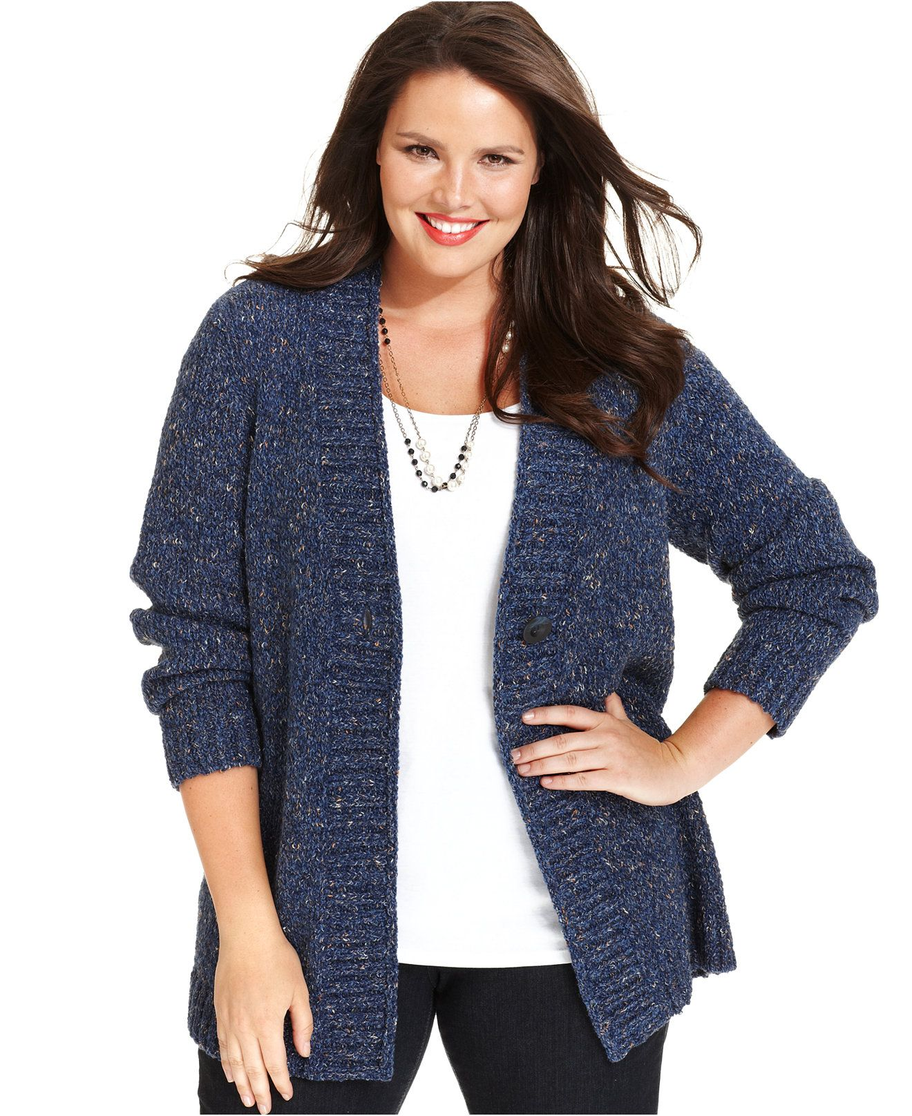 Charter Club Plus Size Fafa-Knit Sweaters - Sweaters - Plus Sizes - Macy's