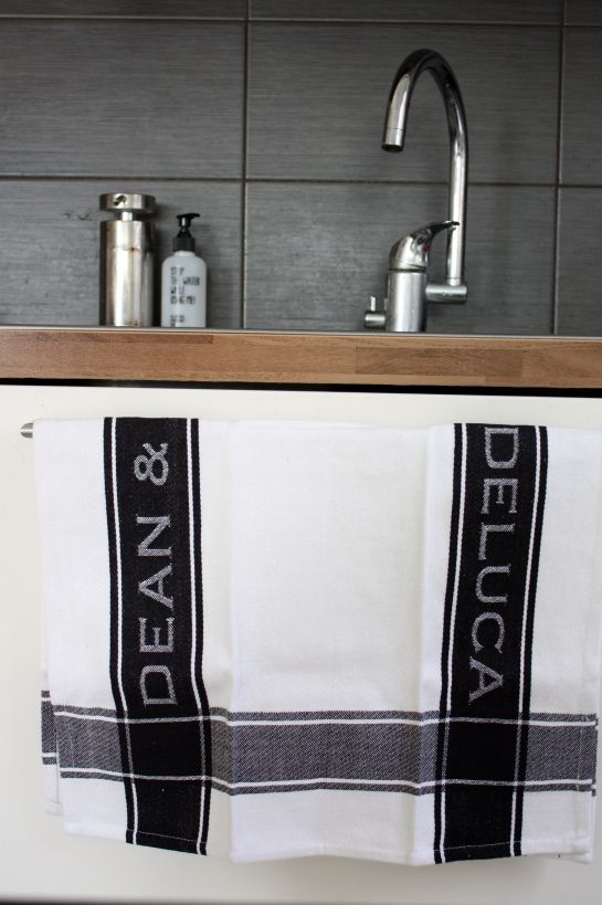 charcoal, oak stainless steel contemporary kitchen with Dean and Deluca accessories - from the fabulous blog homevialaura_9881