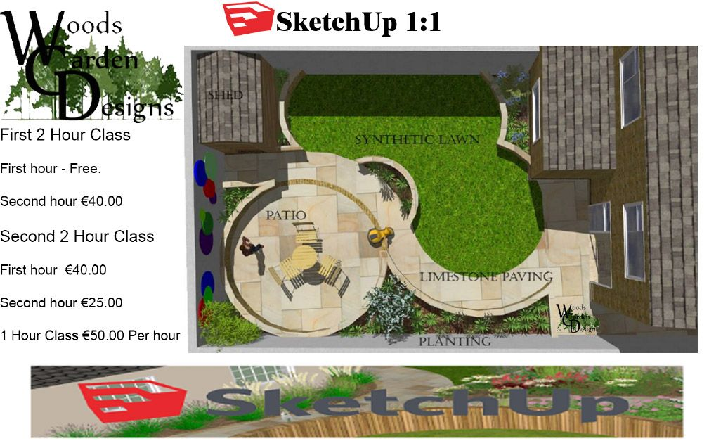 Pin by Padraic Woods on Google Sketchup Classes | Backyard ... on Sketchup Backyard id=47931