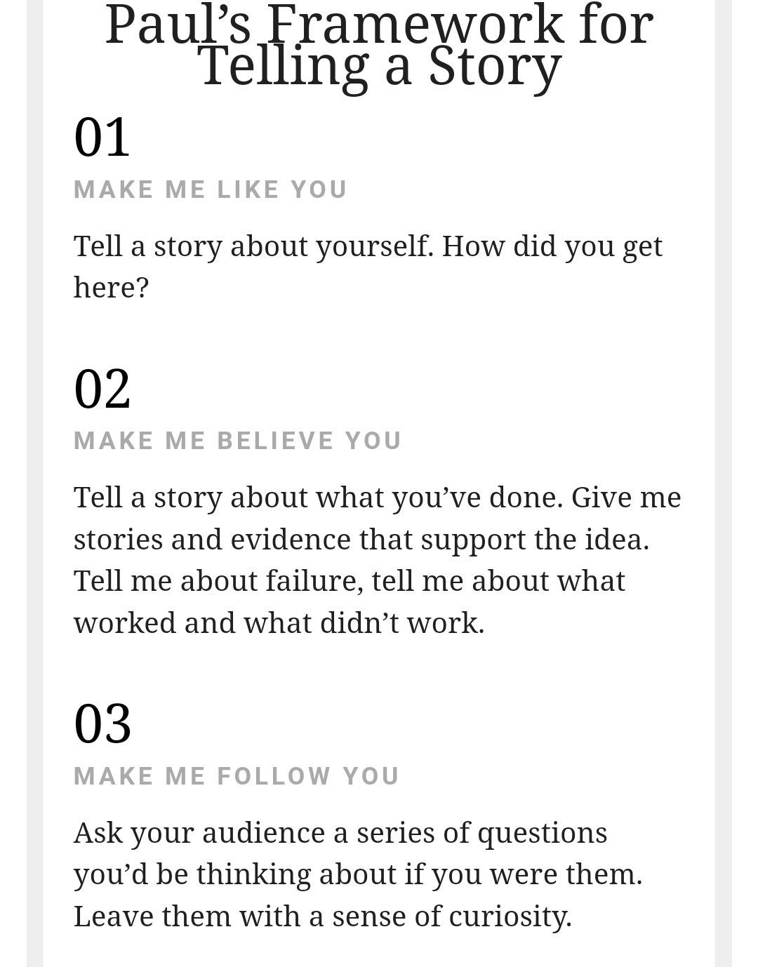 Storytelling 3 Big Steps To Prepare The Ground For An