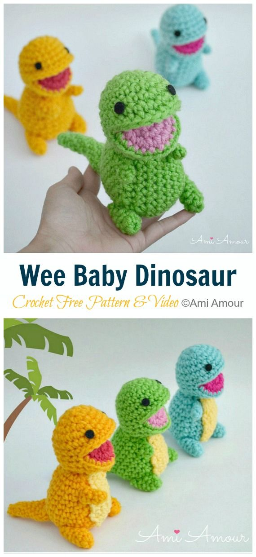 Amigurumi Dinosaur Free Crochet Patterns