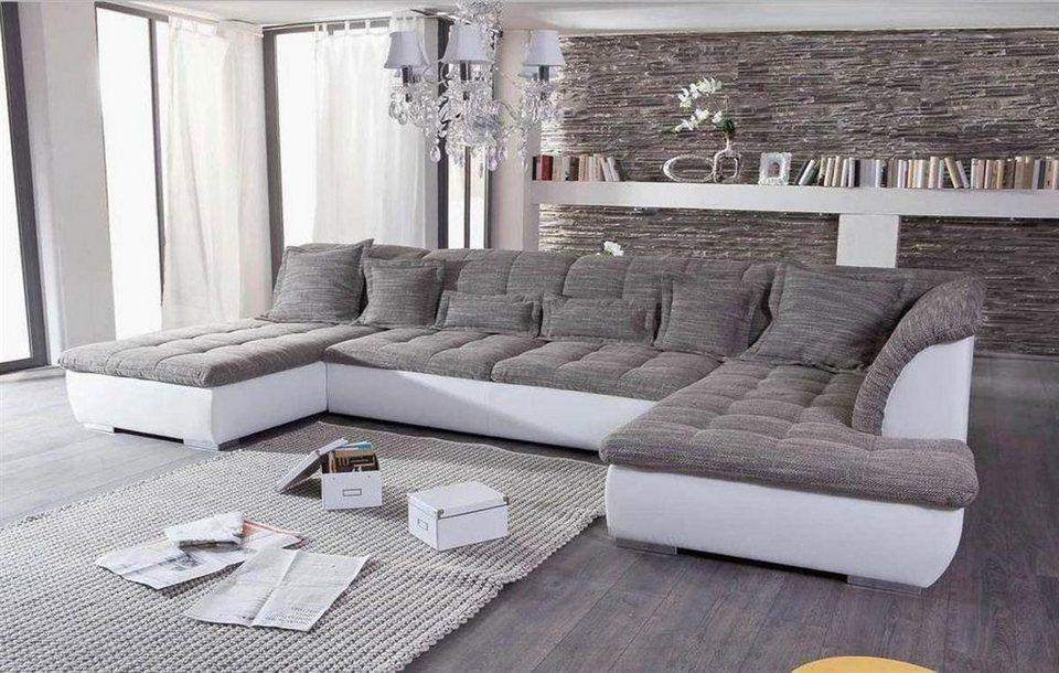 Kasper Wohndesign Ecksofa Recamiere Und Ottomane K In 2020 Wohnzimmer Grau Weiss Wohn Design Wohnen