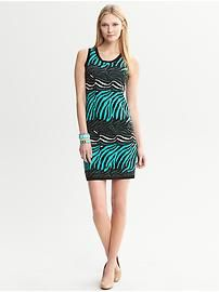 Issa Collection Zebra Printed Sleeveless Sweater Dress