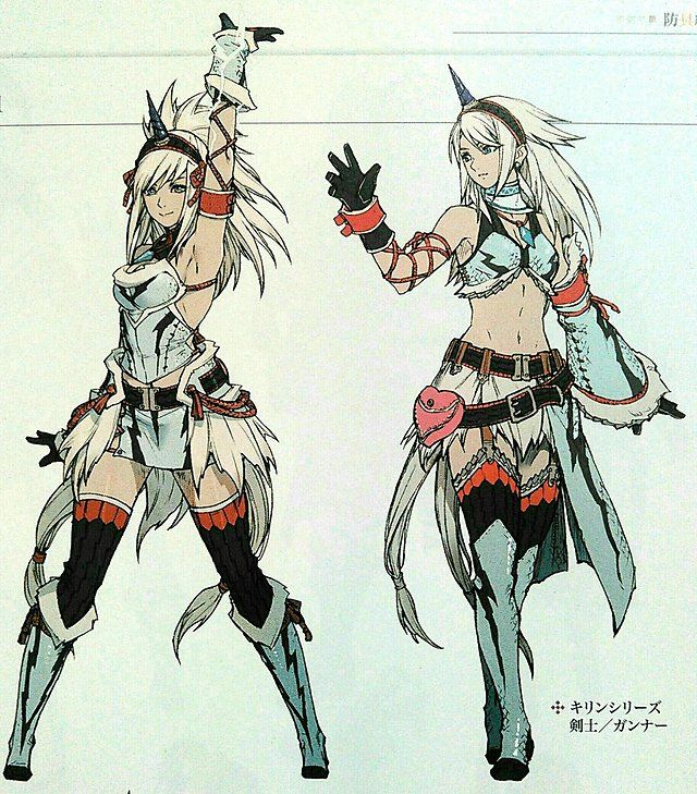 Character Design Pinup Art : Monster hunter world female character amazing art