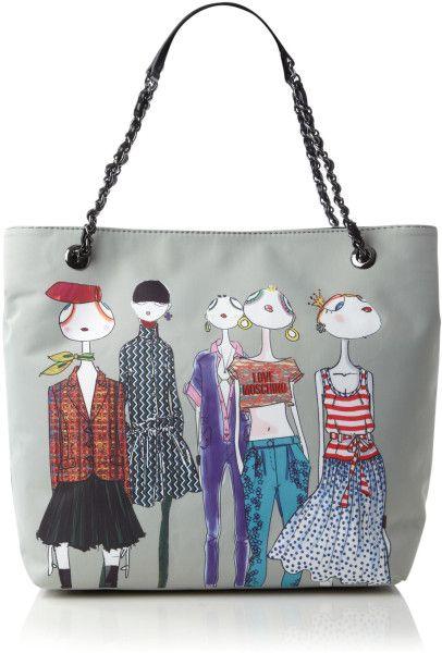 463ca39df0 Love Moschino Gray Charming Ladies Tote Bag