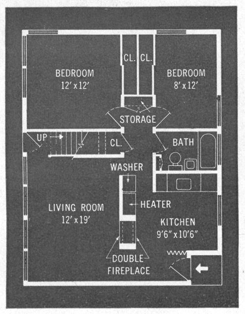 Best Levittown House Plan Replace Double Fireplace With 400 x 300