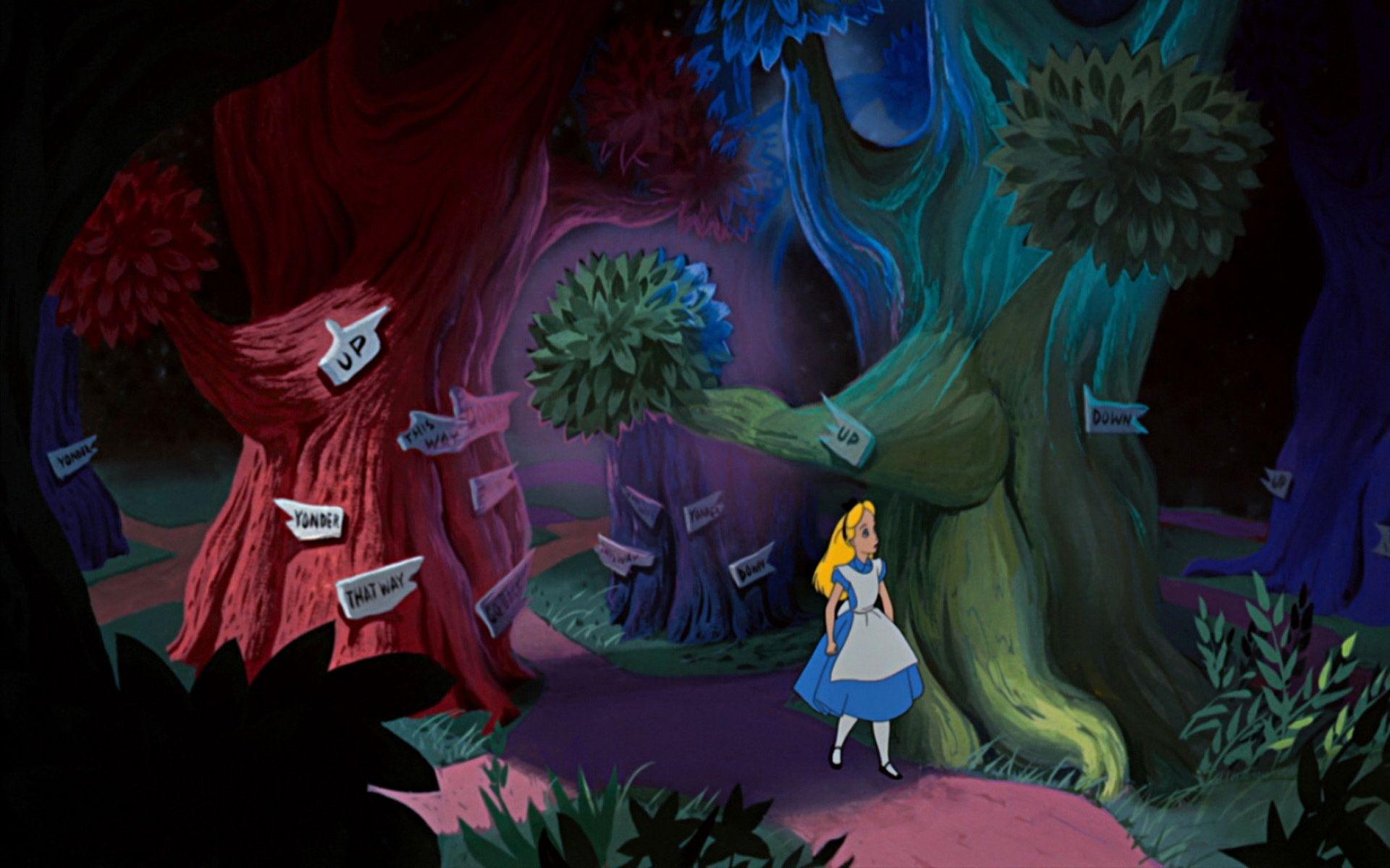 Alice In Wonderland Wallpapers Wallpaper Мультфильмы