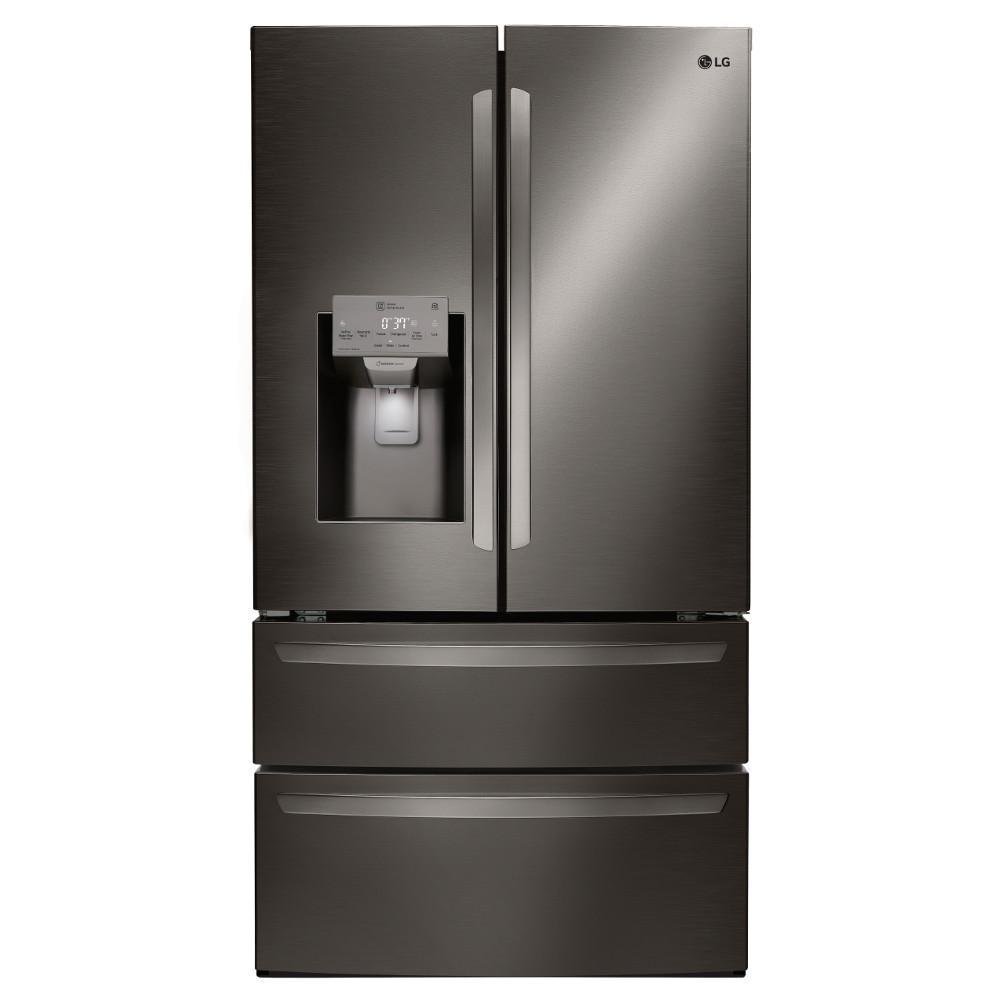 Lg Electronics 27 8 Cu Ft 4 Door French Door Smart Refrigerator With 2 Freezer Drawers And Wi Fi Enabled In Stainless Steel Lmxs28626s The Home Depot French Door Refrigerator French Doors Stainless Steel Refrigerator