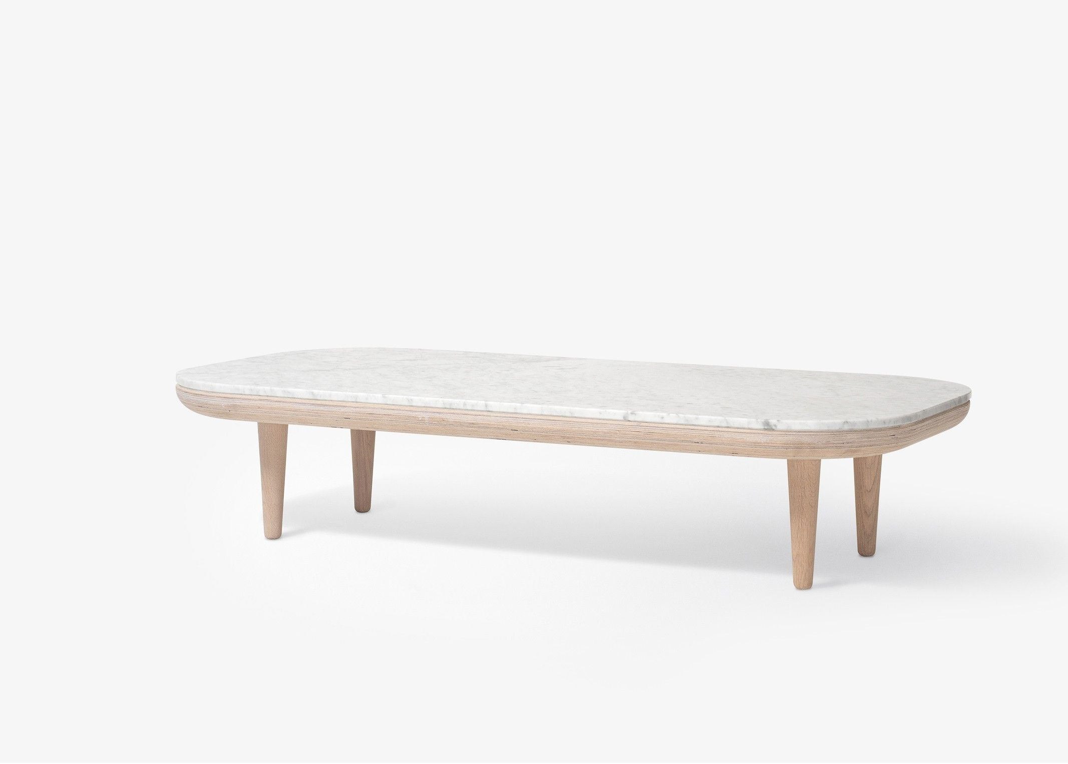 Table basse FLY Marbre - Blanc - And Tradition | \\ MARBLE ...