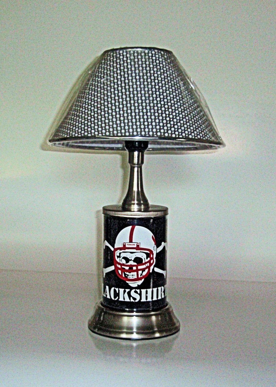 Nebraska cornhuskers desk lamp official team graphics