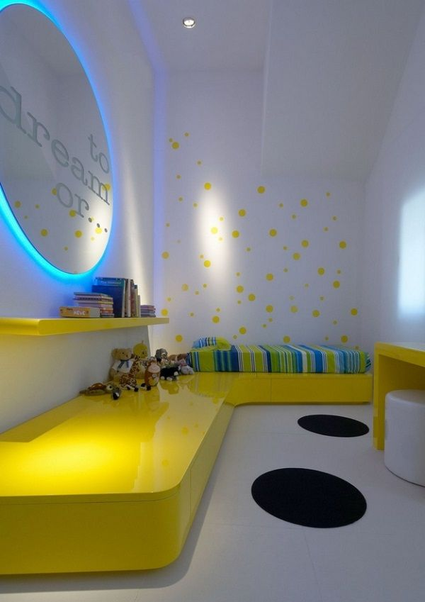 Futuristic mirror in modern small bedroom by simone micheli design ideas also best lt blue yellow rooms images on pinterest rh