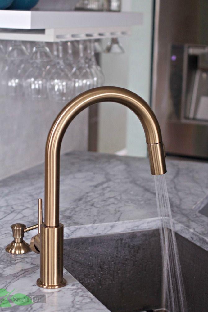 delta gold kitchen faucet super chic