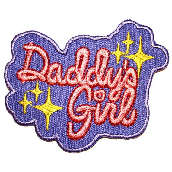 Daddys Girl Iron On Patch Embroidery Sewing Diy Customise Denim