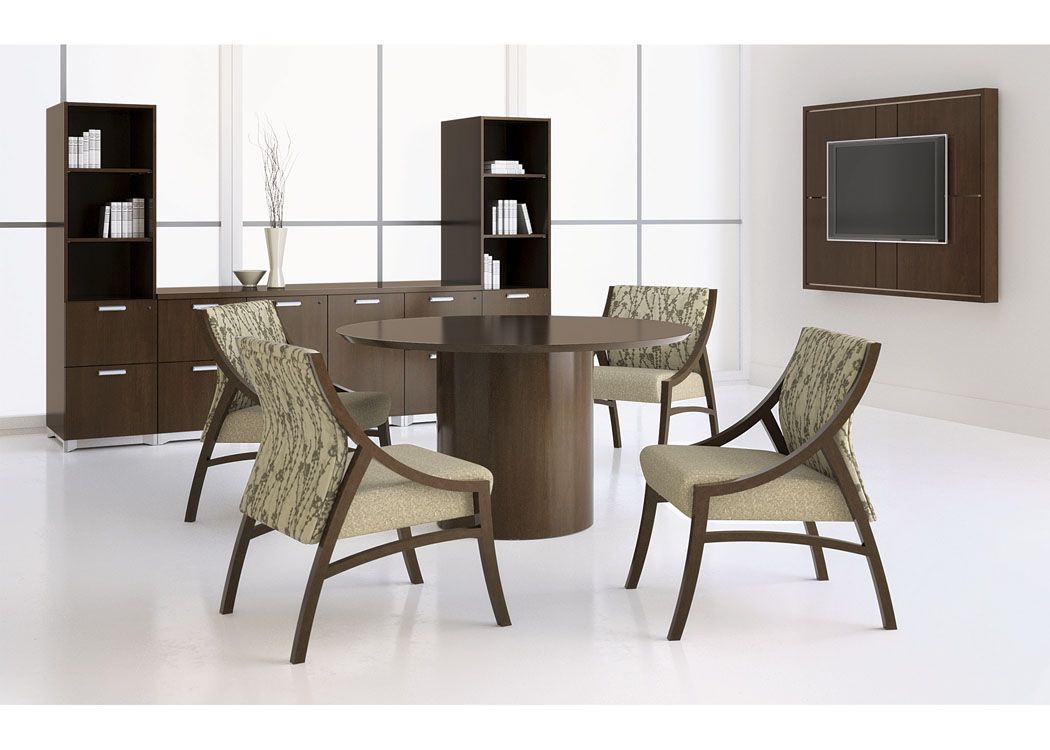 National Office Furniture Davari Seating Clever Table Epic Storage - Conference table with storage