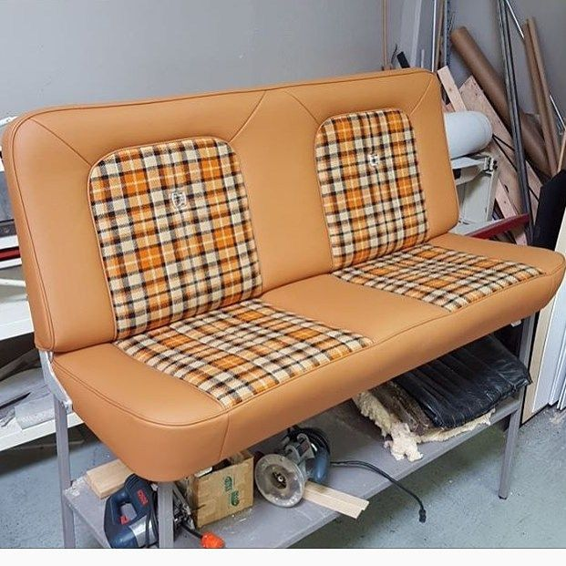 Thehogring Com Page Liked July 23 Plaid Is In Badass Bench Seat Upholstered By Adamatf Car Interior Upholstery Upholstered Bench Seat Custom Car Interior