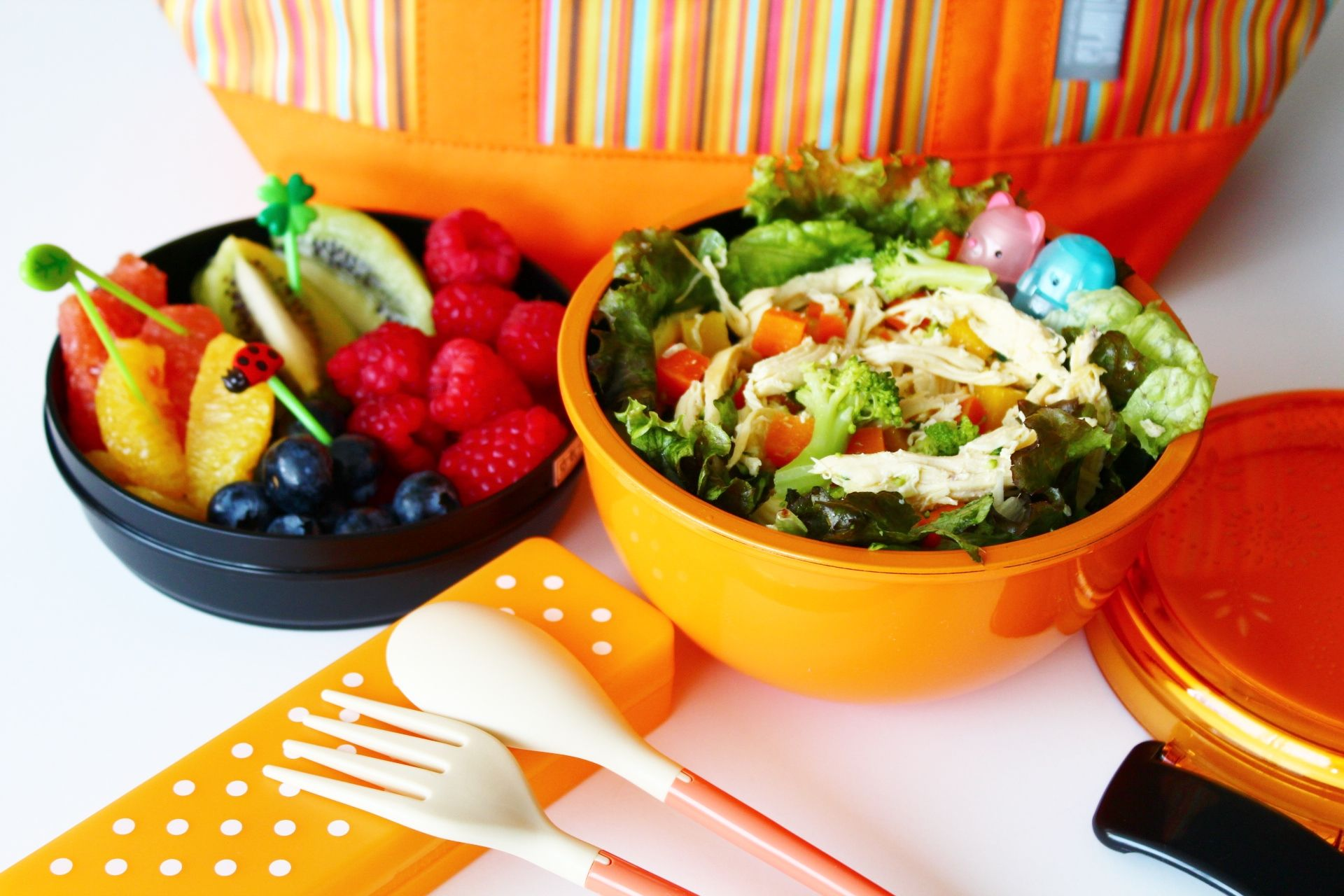 CHICKEN SALAD WITH FRUIT BENTO