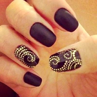 Nail Art Designs Black And Gold Splendid Wedding Company