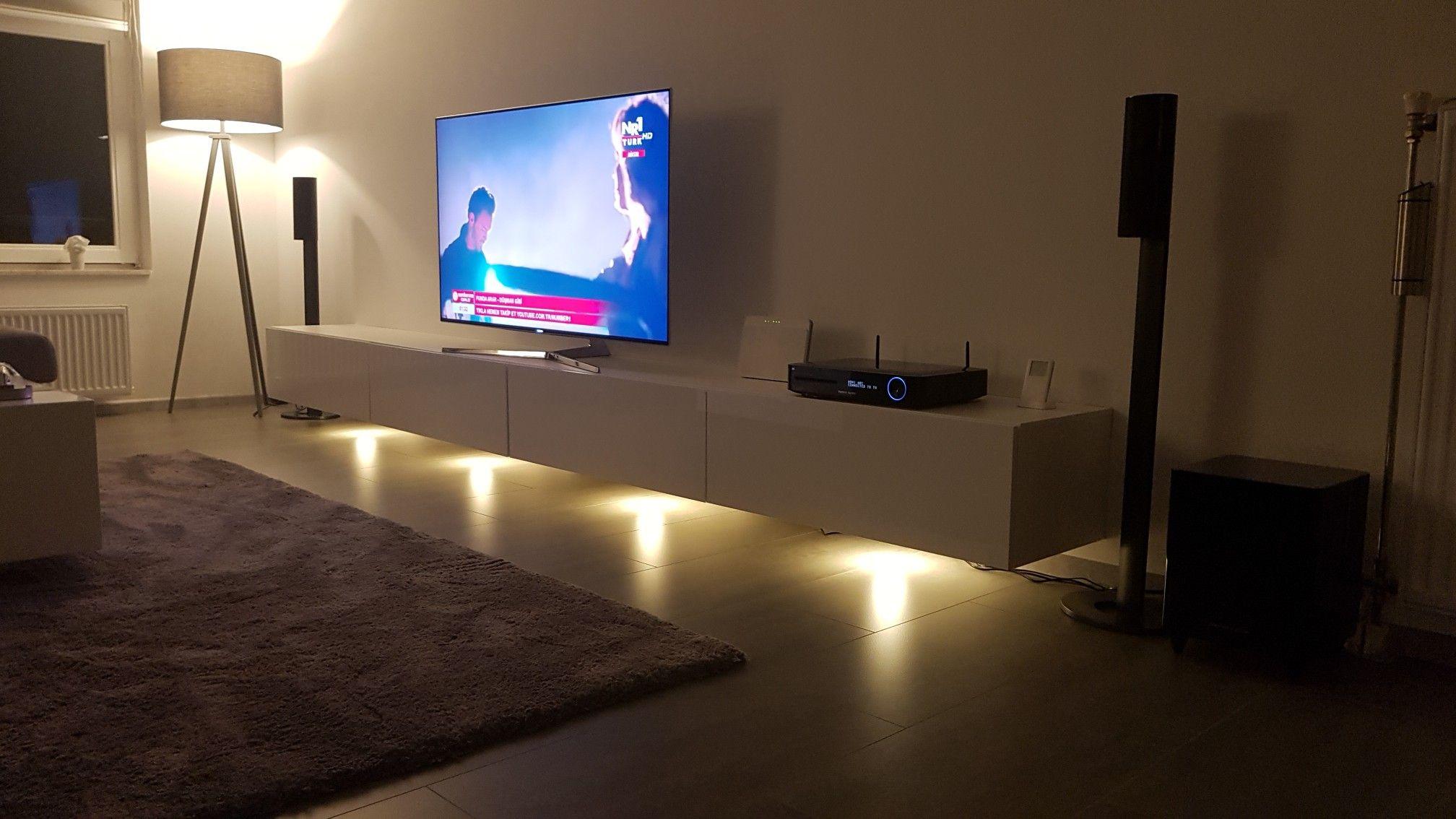 Zwevend tv meubel met verlichting | Tv Meubel | Pinterest