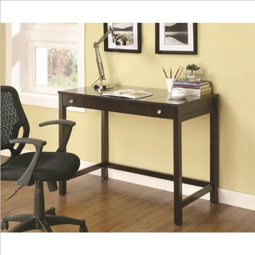 Coaster Home Furnishings Transitional Writing Desk Cappuccino For More Information Visit Image Link Note It Is A With Images Best Home Office Desk Furniture Brown Desk